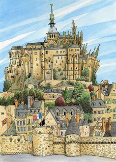 Mont Saint-Michel, France. $35.00, via Etsy.