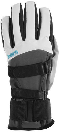 BERN WOMEN'S SYNTHETIC GLOVES REMOVABLE WRIST GUARD The Women's White Grey Synthetic Gloves comes together with a removable wrist guard for extra protection. The Removable wrist guard is there to help you customise your protection, both plates on the wrist guard are removable. #snowboard #womensnowboardgloves #bernwomensyntheticsnowboardgloveremovablewristguard #colourwhitegrey