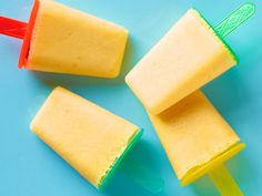 Frozen Orange Pops recipe from Food Network Kitchen via Food Network