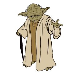 Today is the anniversary of Star Wars opening in 1977. How to Draw Yoda!