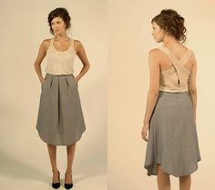 Josiane Perron - NaNa Toulouse Waist Skirt, Midi Skirt, High Waisted Skirt, Toulouse, Skirts, Fashion, Front Steps, Moda, Skirt