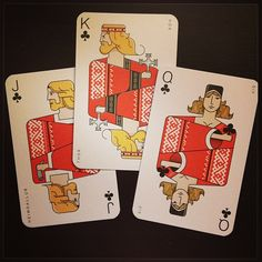 Norse Clubs:  Thor (Þór), Heimdall (Heimdallur), Sif. Playing cards from Icelandair. - @graypilgrim- #webstagram