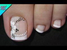 Pedicure Designs, Pedicure Nail Art, Toe Nail Designs, Toe Nail Color, Toe Nail Art, Nail Colors, Pretty Toe Nails, Cute Toe Nails, May Nails