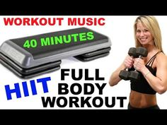 Full Body HIIT, Step with Weights Workout, HIIT Workout, Bench Workout with Dumbbells - YouTube