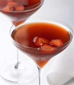 Strawberry Rose Gimlet