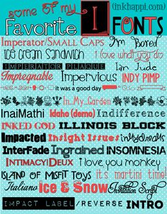 Favorite I Fonts