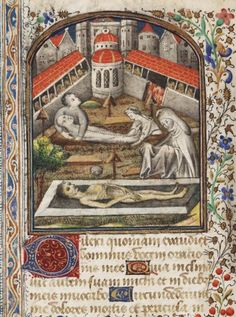('Burial of the Dead'). Book of Hours, Use of Paris. France, mid-15th century.