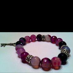 Faceted Purple Fire Agate Bracelet (Rock Life 2012 Collection)