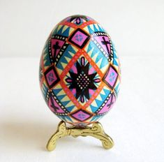 Ukrainian Easter Eggs - buy them on Etsy or make your own with Hearthsong - See more at SmallforBig.com