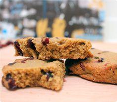 Cookies med lakrids og tranebær