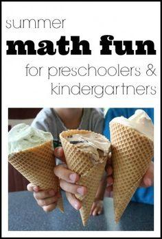 Summer Math Fun for Preschoolers & Kindergarteners