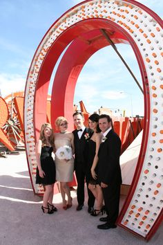 The Neon Boneyard is just a great place to take wedding photos!