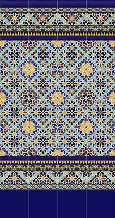 Colección de cerámica artística de estilo árabe