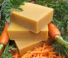 Carrot Honey Complexion Soap || Natural carrot juice, carrot root and seed oil, goat's milk and raw honey create a gentle and nutritious natural complexion bar.
