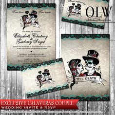 Sugar Skull Wedding Invitation Diy Black And White Fancy Sugar