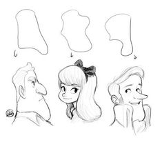 Character Shape Sketching 2 (with video link) by LuigiL on DeviantArt Character Illustration, Illustration Art, Cartoon Illustrations, Cartoon Art, Character Design Cartoon, Animation Character, Character Sketches, Character Art, Body Reference Drawing