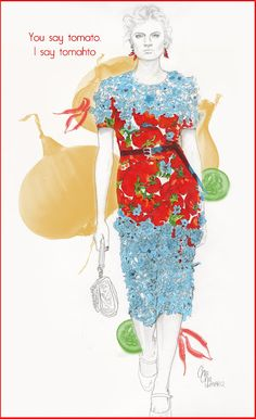 Dolce & Gabbana Spring 2012 by ChaCha  http://chacha-illustrations.blogspot.com/