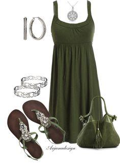 """Tank Dress"" by arjanadesign on Polyvore"
