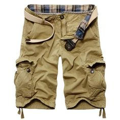 - Mens casual outdoor shorts for the modern men - Edgy design offers a modern stylish look - Great for the workplace or casual outings - Made from high quality material - Available in 4 colors
