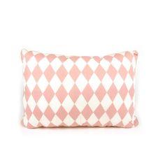 Nobodinoz kussen S diamonds roze 34 x 23 cm €13,95