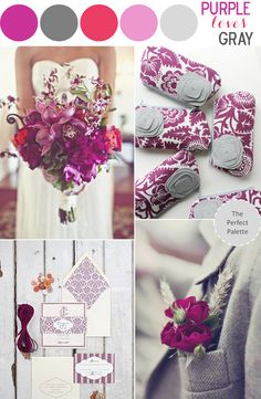 Color Story   Purple Loves Gray! http://www.theperfectpalette.com/2013/04/color-story-purple-loves-gray.html