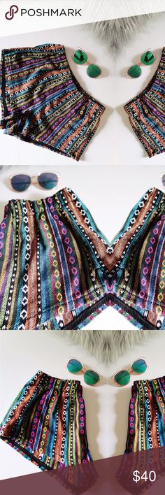Anthropology Print Shorts NWOT. Perfect to style an anthro or boho look! Summer Inspired Shorts   Item Details:  ▪️Thick long lasting material  ▪️Vibrant colors with no discoloration.  ▪️Stated as M but fits more like a Small to Medium.  ▪️Not seen in stores anymore.  Purchase today for quick shipping☕️ Open to reasonable offers ✅ Forever 21 Shorts