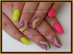It`s all about nails: Neon Sand and Matte One Stroke