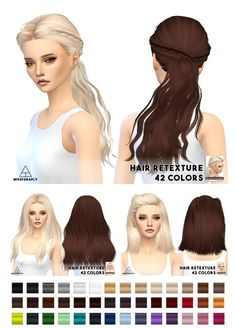 Miss Paraply: Hair retexture - Skysims hairs • Sims 4 Downloads