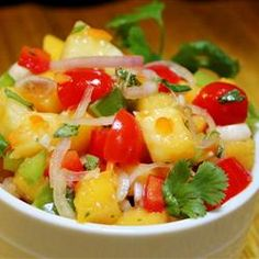 """Apricot Salsa    """"This recipe was part of a recipe challenge that worked out quite well. Nice heat from the habanero and lovely sweetness from the apricots and pineapples."""""""