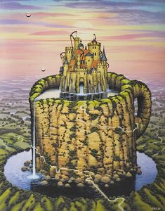 Jacek Yerka paintings gallery - Hydrotherapy, Illegal production of light, Indian summer Dream Painting, Magic Realism, Surrealism Painting, Hyperrealism, Illusion Art, Painting Gallery, Mail Art, Surreal Art, Art Images