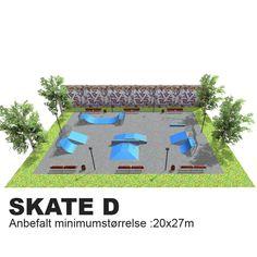Dette er en stor park og egner seg godt på en skole med stort skate-miljø eller som en dedikert skatepark i en park, idrett- eller bolig-område.