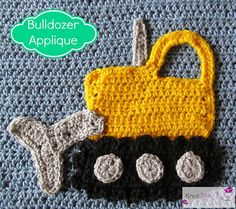 Bulldozer Applique pattern by Teri Heathcote