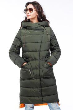 Женский пуховик зимнее пальто Рива от Nui Very - верхняя одежда женская, куртки пуховики, пуховик длинный, пуховики 2017-2018, верхняя одежда женская зима, верхняя одежда зима, зимняя женская мода, пуховик нью вери, нуи вери, пуховик олива, пуховик хаки, зимняя куртка хаки, зимняя куртка оливковый
