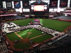 Great layout for an 'on the field' event! Also- a super fun location for events! #Chasefield  Contact us today for more event ideas and your rental needs! 4803159783