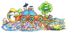 "Happy Children's Day ""Creating Something for India"" doodled by Doodle 4 Google 2015 Winner"