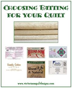 ~ Let's Hand Quilt It! ~ The Quilt Batting Information on choosing the batting for your quilt. #quilting