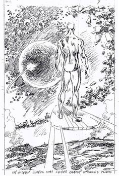 "Comic Book Artwork • John Buscema pencils for page 9 of the ""Silver..."