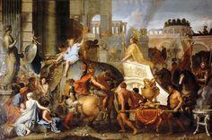 Charles Le Brun - Alexander Entering Babylon, or Triumph of Alexander [1665] | by Gandalf's Gallery