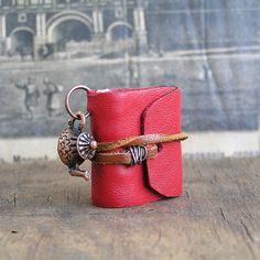 Tea time...   tiny leather journal book for a by JunqueTreasures