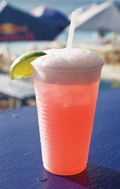 The Cayman Lemonade! Delicious, but dangerous as well…considering it tastes exactly like lemonade but there is not one ounce of actual lemonade in the drink! Enjoy! 1 oz Vodka 1 oz Triple Sec 1 oz Peach Schnapps, Cranberry juice, Club Soda. Enjoy!