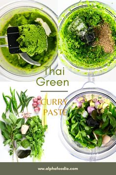 A delicious easy Thai green curry paste that tastes just 10 minutes and a blender to make - perfect for batch making and freezing into portions! Easy Thai Green Curry, Thai Green Curry Paste, Thai Curry Recipes, Vegetarian Recipes, Healthy Recipes, Fresh Coriander, Fresh Ginger, Curry Pasta, Paste Recipe