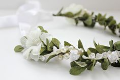 Lilly of the Valley Princess Floral Crown by rosesandlemons
