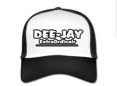 €17,99 order NOW!DeeJay ExtraOrdinair White/Black Trucker Cap. Match it with aDeeJay ExtraOrdinair hoody or T-shirt.