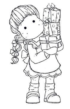 Muñeca para Pintar en Navidad