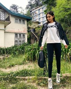 Cute Preppy Outfits, Girly Outfits, Krystal Dsouza, Deepika Singh, Adidas Jacket, Bomber Jacket, Sonarika Bhadoria, Niti Taylor, Indian Tv Actress