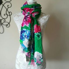 Kate Spade Scarf Kate Spade Spring Bloom Scarf. GORGEOUS,GORGEOUS!! Beautiful floral print in big classic bold Kate colors. What more can I say than just!!  Beautiful!!  **sorry No Trade kate spade Accessories Scarves & Wraps