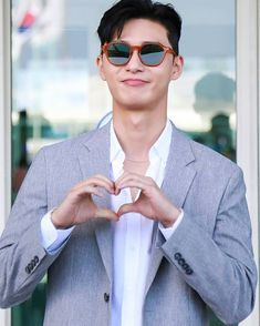 Heart 🙆😍#parkseojoon #parkseojun #parkyongkyu #朴叙俊 #박서준 #박용규 Park Seo Joon Hwarang, Park Seo Jun, New Actors, Actors & Actresses, Korean Men, Asian Men, Asian Actors, Korean Actors, Witch's Romance