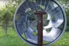 Is a real simple fun project for creating wind energy. you will need 1 = plastic 50 gal drum, 2 = 24 inch front bicycle rims, bunch of sheet rock screws, a drill, a jigsaw, and a propane torch, a tape measure and chalk to mark your cuts. Allways practice good safety habbits when using these tools. I want everyone to be safe! Peace and Love!viayoutubeExperts: Powering...The First Off-Shore...Portable Plug And...From The Ground Up...The SHAZIZZ REDNECK...The Best Off-The-Grid...