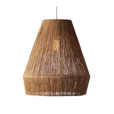 Natural Rattan Pendant Light - Bring a natural touch into the nursery with this jute pendant.