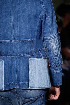 Valentino Spring 2016 Menswear Fashion Show Details Denim Jacket Men, Men's Denim, Denim Style, Denim Jackets, Vogue Paris, Spring Summer, Spring 2016, Summer Denim, Summer 2016